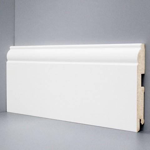 Белый ламинированный плинтус DEARTIO U104-120