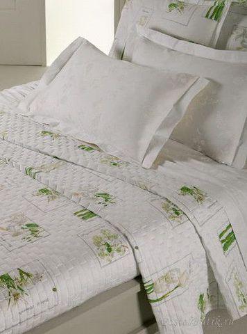 Постельное белье 2 спальное евро Mirabello Herbarium белое