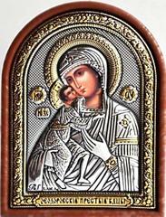Феодоровская Богородица. Маленькая серебряная икона.
