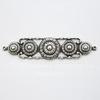 Винтажный декоративный элемент - коннектор (1-1) 55х13 мм (оксид серебра)