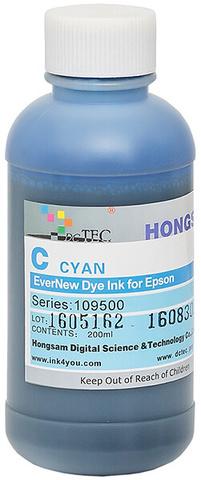 Чернила водные DCTec 7900D cyan dye 200мл. Серия 109500