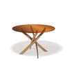 Стол кухонный KENNER R1200, овальный, стекло бронза, опора золото