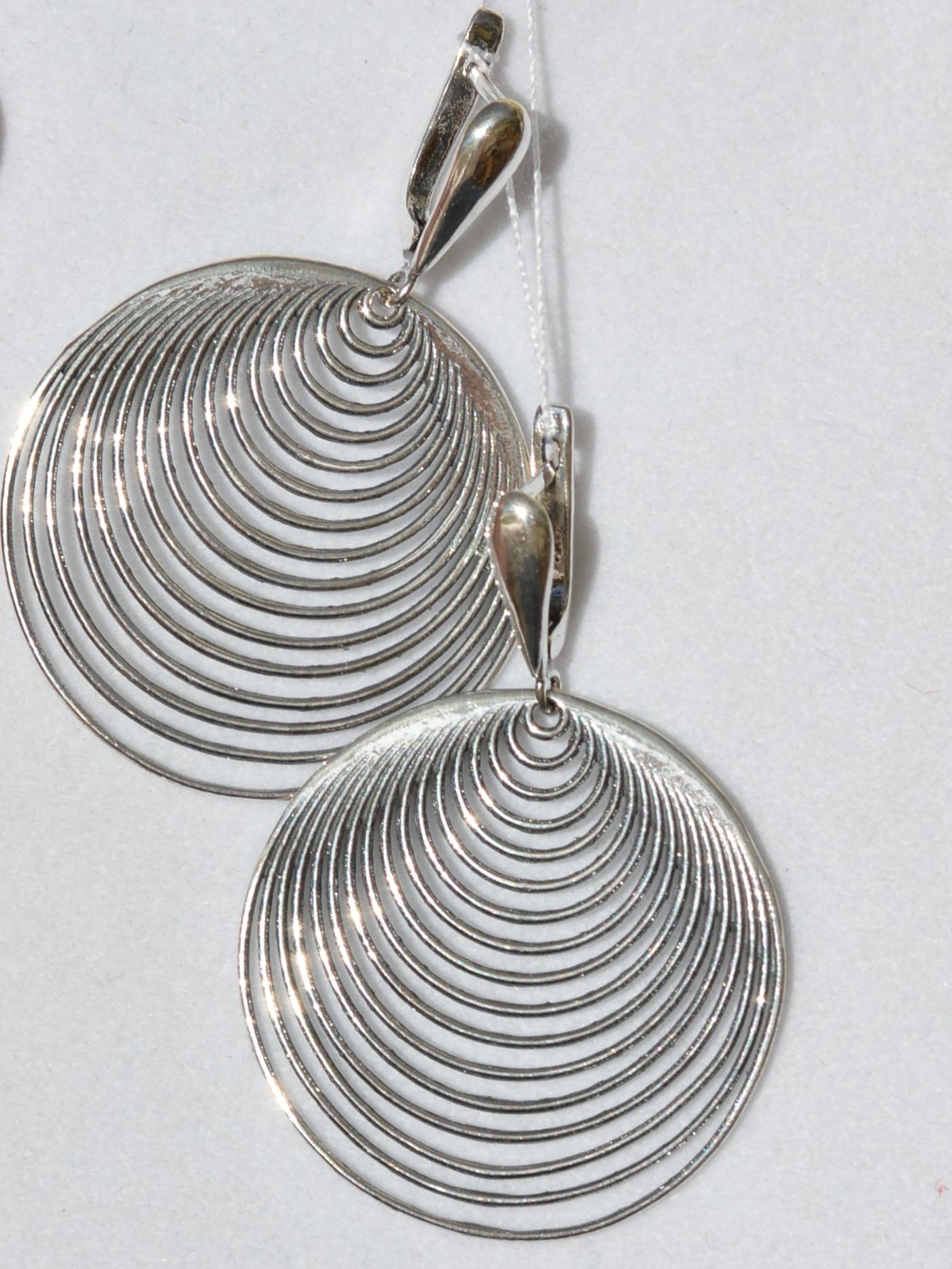 Аура (серьги из серебра)