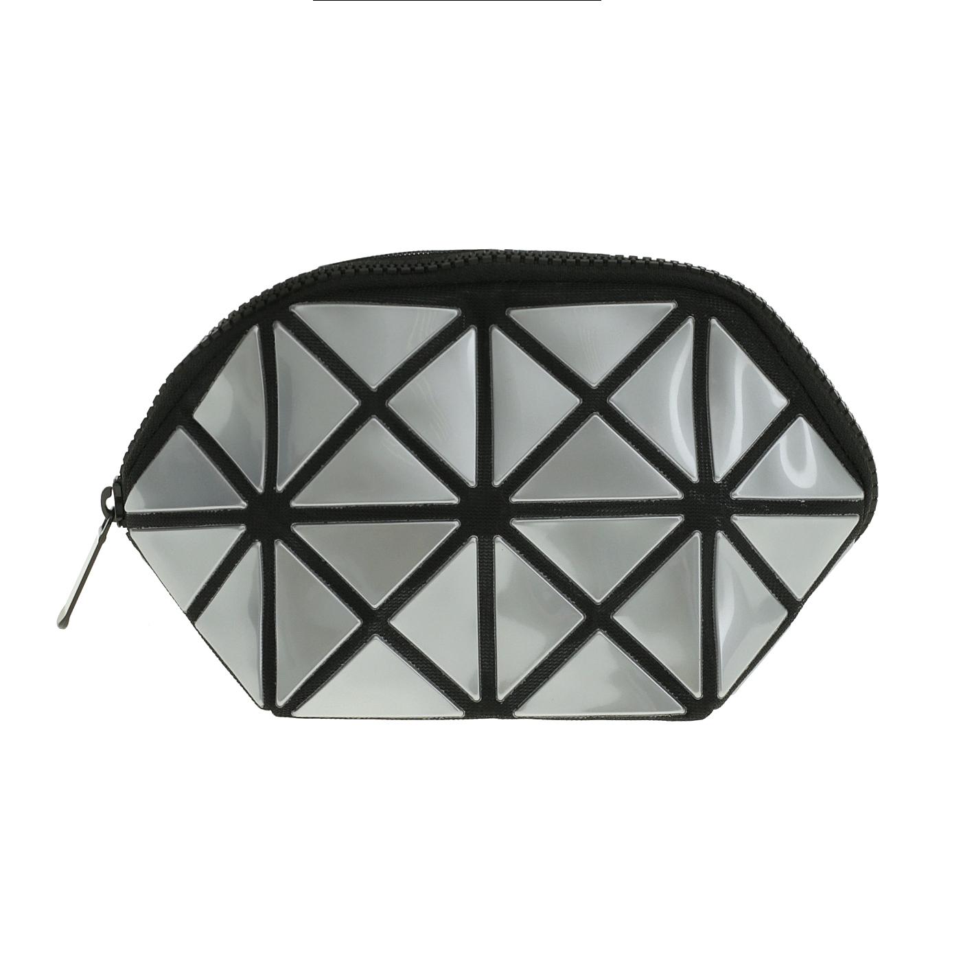 Косметичка женская Musaa Geometric bags, silver