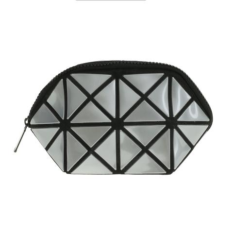 Косметичка женская Musaa Geometric bags, silver, фото 2