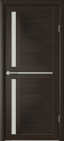 Дверь ALBERO Кельн (кипарис тёмный, остекленная экошпон), фабрика Фрегат