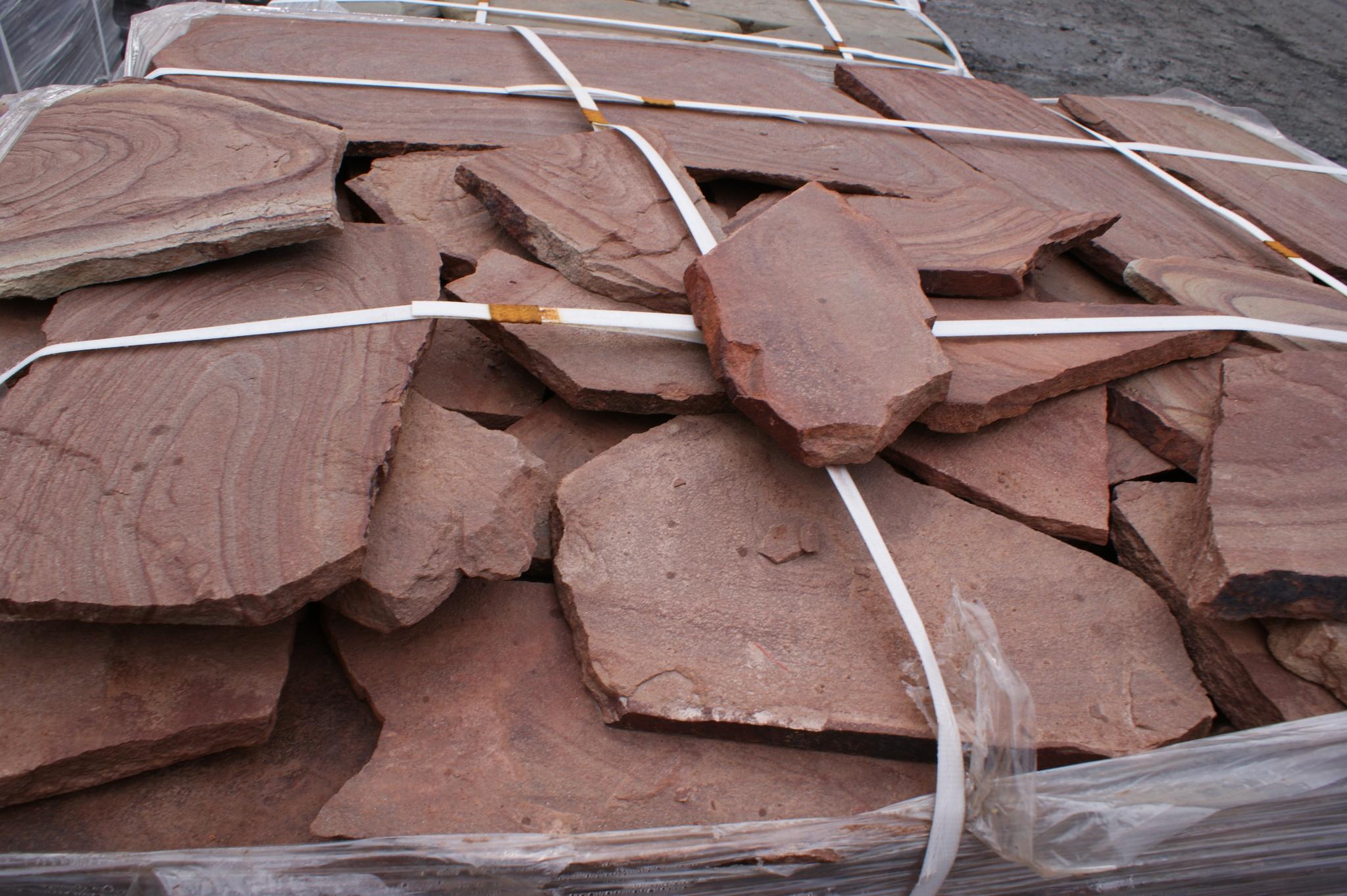 Песчаник плитняк Красное Капучино