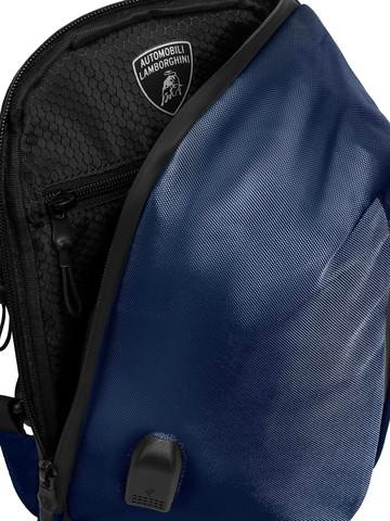 Сумка через плечо Lamborghini Galleria LBBO00106T, blue, фото 6