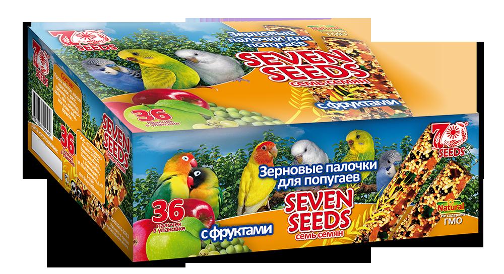 Птицы Палочки для попугаев Seven Seeds с фруктами Шоу-бокс-попугаи-фрукты.png