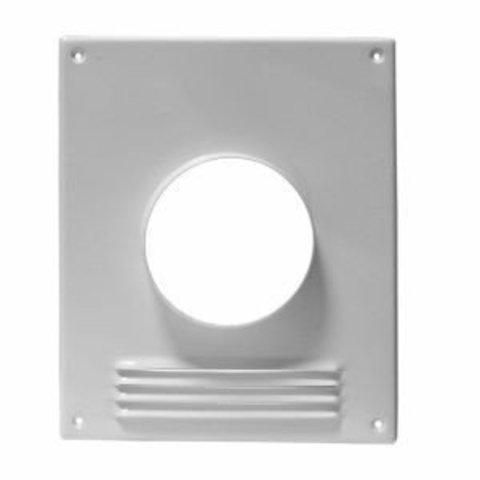 Торцевая площадка стальная 197х238/ф125 с решеткой, с полимерным покрытием эмалью