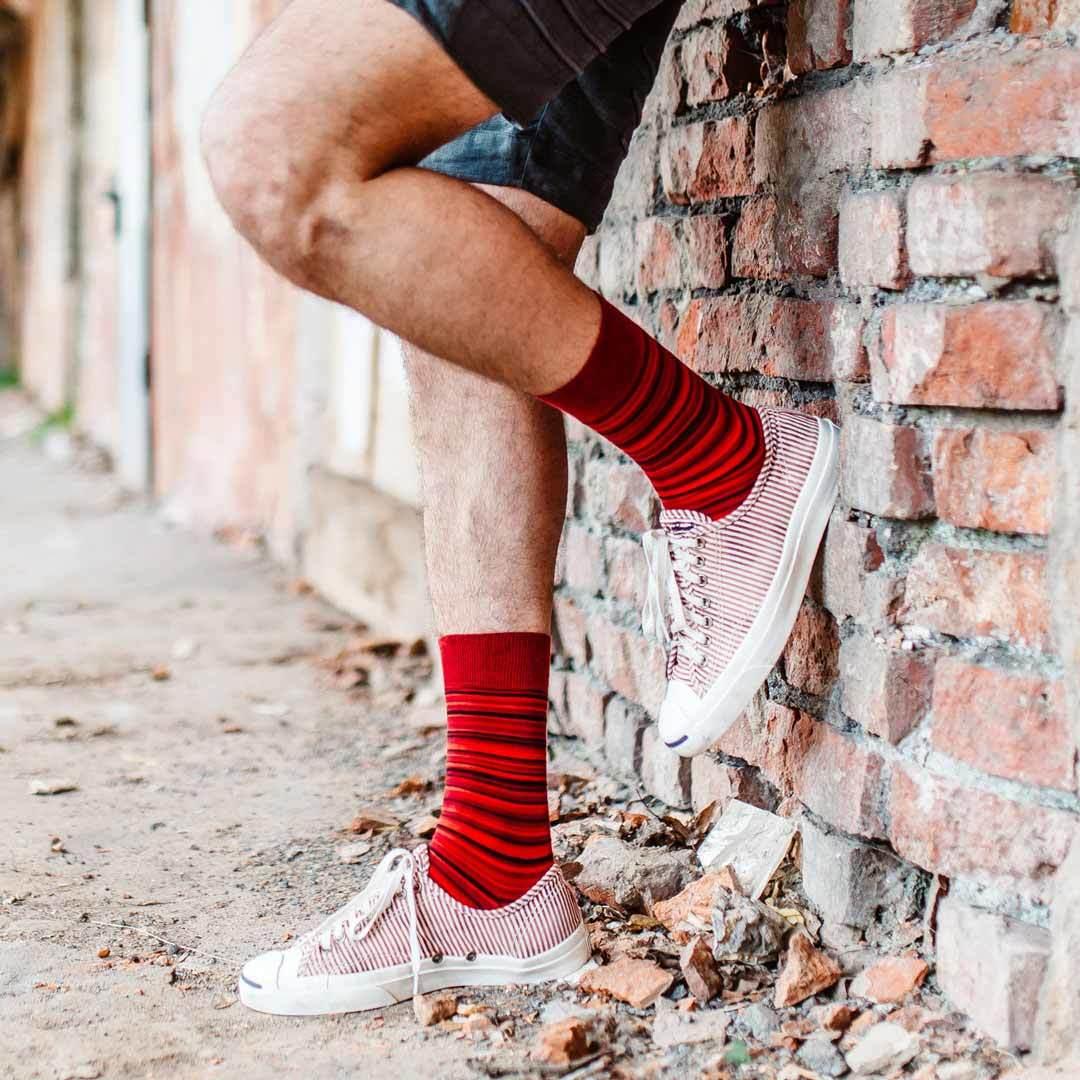 Красные мужские носки Marrey Red Land