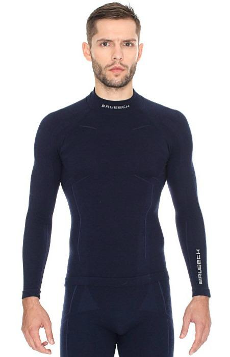 Мужская терморубашка Brubeck Wool Merino (LS11920) синяя