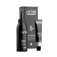 NIRVEL ct-6 (dark chestnut) - краситель для волос мужской тёмно-каштановый 30+30