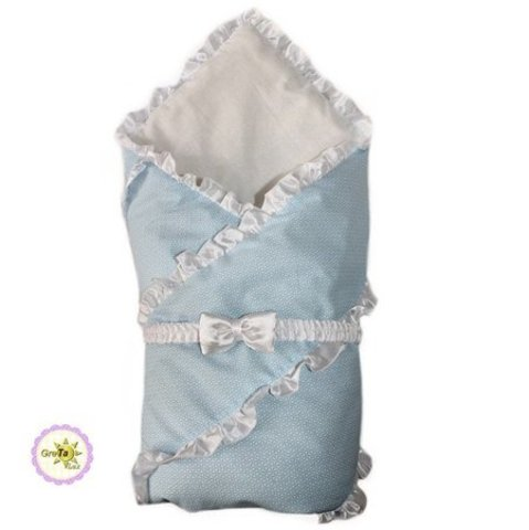 Конверт одеяло для новорожденных Бизе голубой