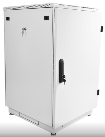 Шкаф телекоммуникационный напольный 22U (600 × 600) дверь металл