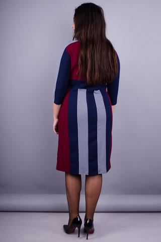 Пралине. Стильное  платье плюс сайз. Бордо.