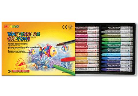 Мелки акварельные трехгранные, 24 цвета