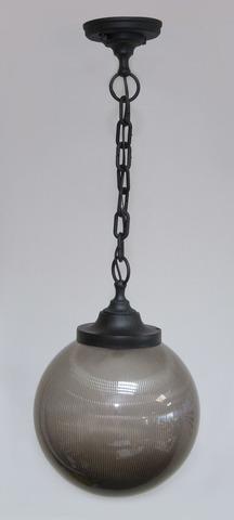 Светильник НСБ 02-60-255 УХЛ4 60 Вт, IP40, шар дымчатый с огранкой 250 мм, цепь черная TDM