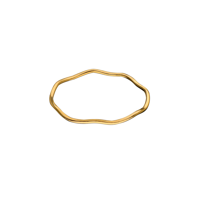 Кольцо «волна», желтое золото ANNA MASLOVSKAYA
