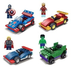 Minifigures Super Heroes Chariot Car Blocks Building Series 04