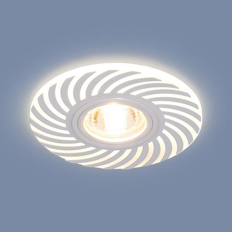 Встраиваемый точечный светильник с LED подсветкой 2215 MR16 WH белый