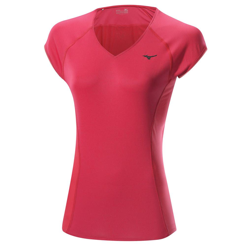 Женская футболка Mizuno Drylite Cooltouch Tee  pink (J2GA5203 65)