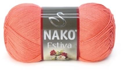 Пряжа Nako Estiva коралл 3278