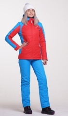 Женский тёплый  прогулочный лыжный костюм Nordski National Red 18
