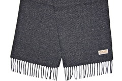 Шерстяной шарф, мужской серый 30321