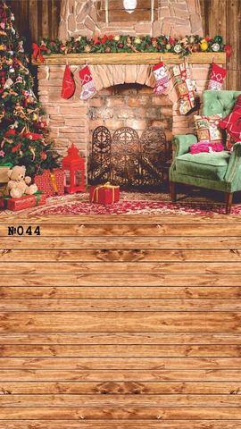 Фотофон виниловый стена-пол «Рождественский уют» №044