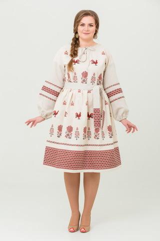 Платье льняное Вестник зари