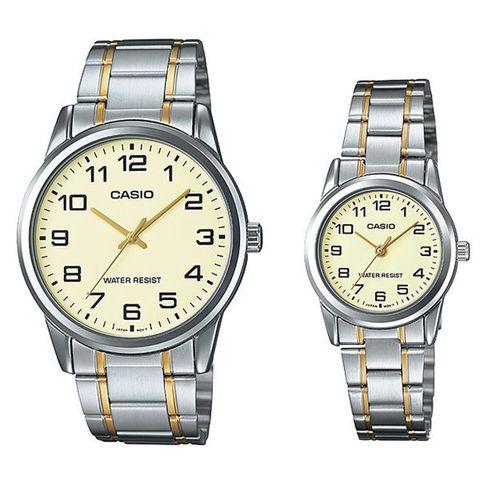 Купить Парные часы Casio Standard: MTP-V001SG-9BUDF и LTP-V001SG-9BUDF по доступной цене