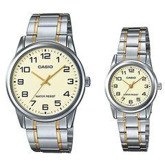 Парные часы Casio Standard: MTP-V001SG-9BUDF и LTP-V001SG-9BUDF