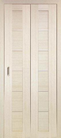 > Экошпон складная Optima Porte Турин 501АПП молдинг SC  (2 полотна), цвет беленый дуб, глухая