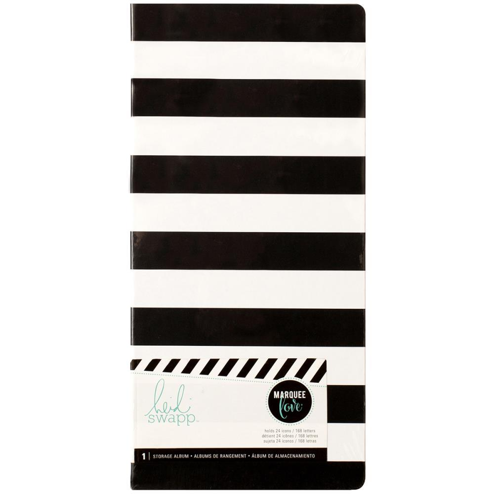 Холдер для хранения сменных пластин для лайтбокса - Heidi Swapp Lightbox Insert Storage Album -Stripe