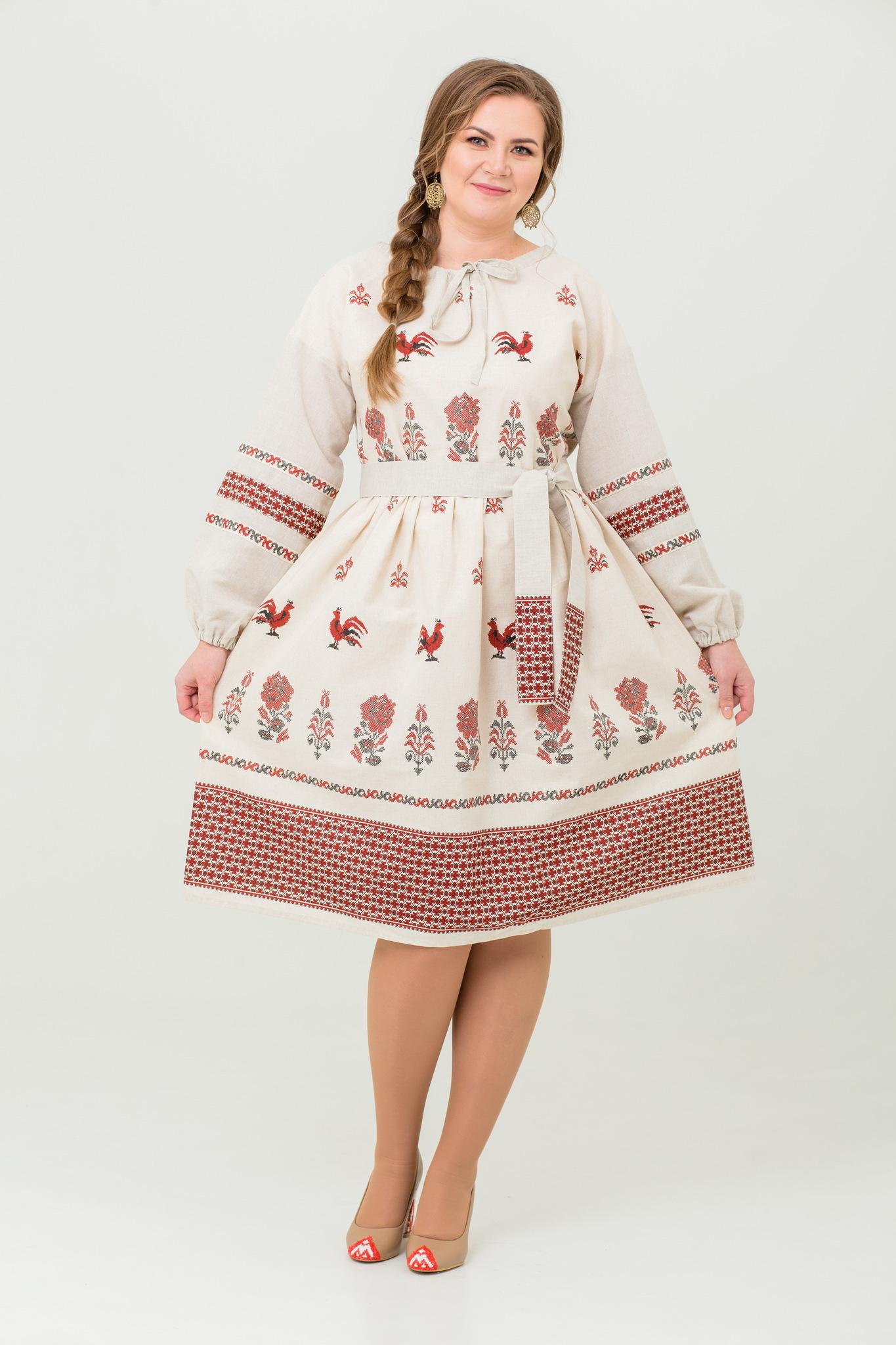 Платье льняное Вестник зари купить