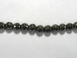 Бусина из пирита, фигурная, 6 мм (шар, граненая)