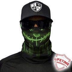 Бандана с черепом SA Neon Purge-Green