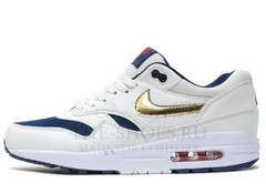 Кроссовки Мужские Nike Air Max 87 White Gold Blue