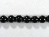 Бусина из кварца черного (мориона), шар гладкий 6 мм