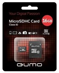 Карта памяти QUMO microSDHC 16 Гб Class 10 + Адаптер, шт.