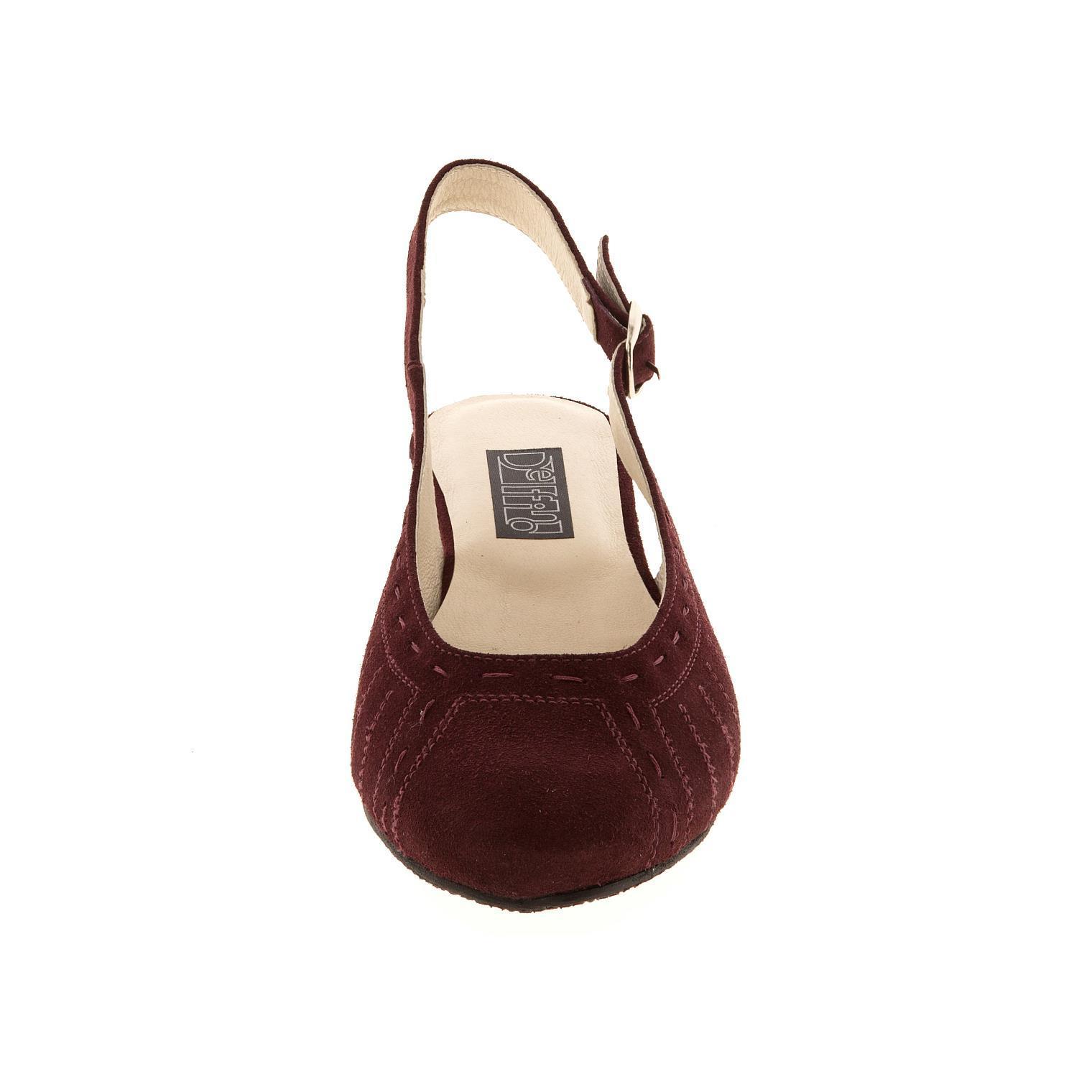 629198 туфли летние женские бордо больших размеров марки Делфино