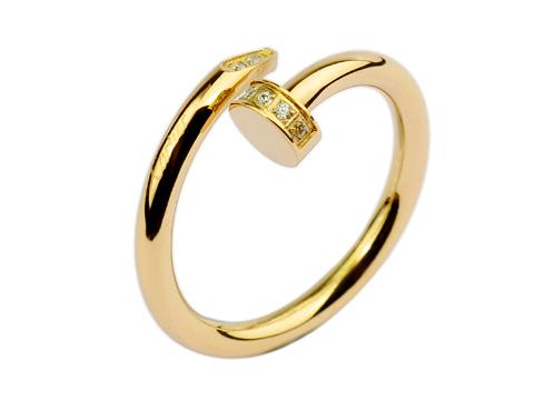 Кольцо Juste Un Clou Ring Yellow Gold Diamonds