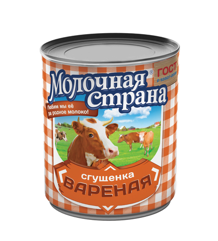 """Сгущенка """"Молочная страна"""" вареная 380г"""