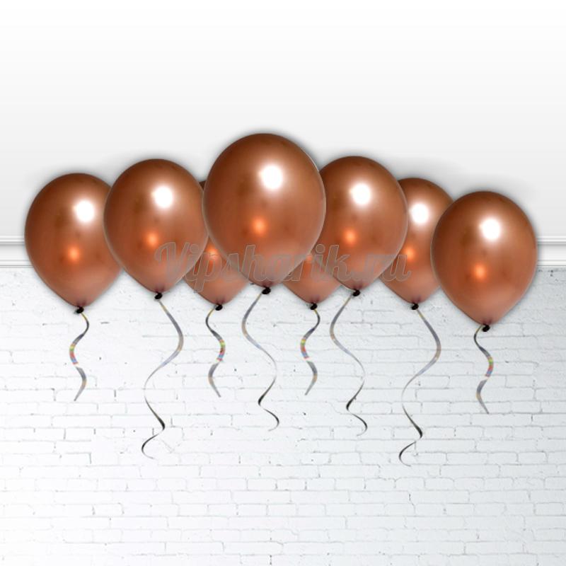 Шарики под потолок Шоколад (металлик) 30 см.
