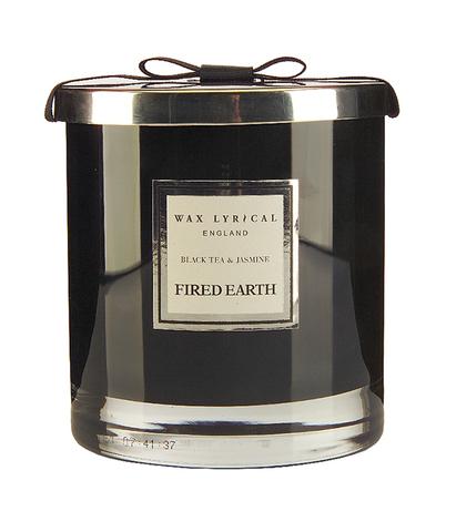 Свеча ароматическая в стекле Черный чай и жасмин большая, Wax Lyrical