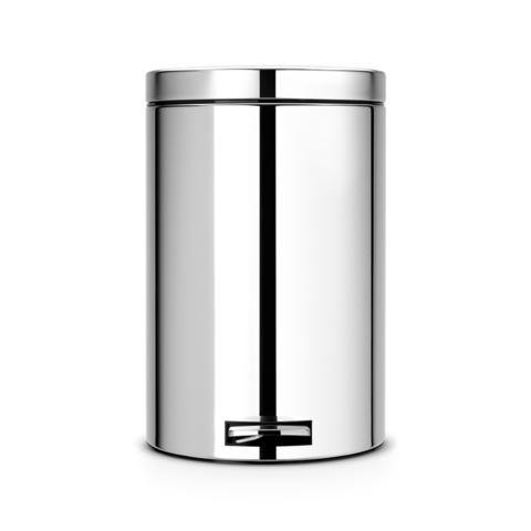 Мусорный бак  (20л), Классический, Стальной полированный с металлическим внутренним ведром, арт. 170225 - фото 1