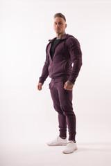 Мужская кофта с капюшоном Nebbia 720 burgundy