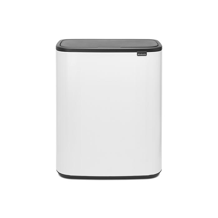 Мусорный бак Touch Bin Bo (2 х 30 л), Белый, арт. 221408 - фото 1