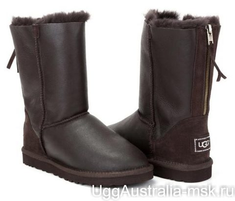 Ugg Zip Metallic Chocolate